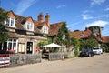 Hambledon village centre. Royalty Free Stock Photo