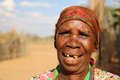 Hambukushu tribe woman near divundu namibia Stock Photo