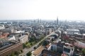Hamburg aerial view of from church of st michaelis germany Royalty Free Stock Photography