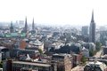 Hamburg aerial view of from church of st michaelis germany Stock Photo