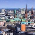 Hamburg aerial view Royalty Free Stock Photo