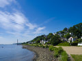 Hamburg blankenese the river elbe and the beautiful village in Stock Images