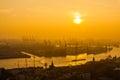 Hamburg Cargo port Royalty Free Stock Photo