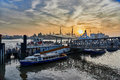 Hamburg germany november tourists embark for the last harbor tour at the famous gangways of the harbor of and enjoy a Stock Images