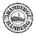 Hamburg grunge rubber stamp black with the name of city from germany Stock Photos