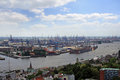 Hamburg harbor Royalty Free Stock Photo