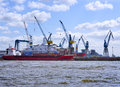 Hamburg harbor, shipyard Royalty Free Stock Photo