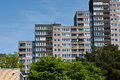 Hamburg langenfelde houses in the district of Royalty Free Stock Photography