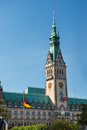Hamburg rathaus building town hall germany Stock Photography