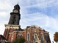 Hamburg's main church St. Michaelis Royalty Free Stock Image