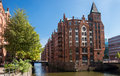 Hamburg speicherstadt sight Royaltyfria Foton