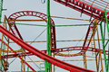 Hamburg st pauli supplied flat roller coaster in the degradation Royalty Free Stock Photo