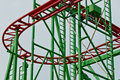 Hamburg st pauli supplied flat roller coaster in the degradation Royalty Free Stock Images
