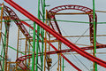 Hamburg st pauli supplied flat roller coaster in the degradation Royalty Free Stock Photos