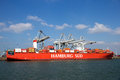 Hamburg Sud Container Ship Royalty Free Stock Photo