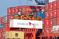 Hamburg Sud container shipping Royalty Free Stock Photo
