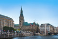 Hamburg Town Hall With Alster
