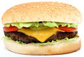 Hamburger, beef cheese burger with tomato Royalty Free Stock Images