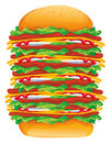 Hamburger big vector Stock Images