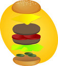 Hamburger breakdown Stock Images