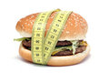 Hamburger and centimeter Royalty Free Stock Image