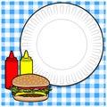 Hamburger Cookout Menu Royalty Free Stock Photo
