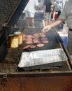Hamburger del prosciutto Fotografia Stock