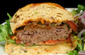 Hamburger Half Royalty Free Stock Photo