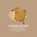 Hamburger hand holding a vector illustration Stock Photography