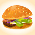 Hamburger icon vector this is file of eps format Royalty Free Stock Photos