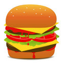 Hamburger Illustration Royalty Free Stock Photos