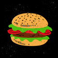Hamburger illustration of a tasty Stock Image