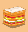 Hamburger vector create and illustration Royalty Free Stock Photos