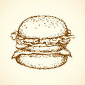 Hamburger. Vector drawing