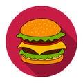 Hamburger vector icon.
