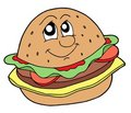 Hamburger vector illustration Royalty Free Stock Photo