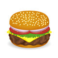 Hamburger vector with white background Stock Image