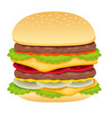 Hamburger on white Royalty Free Stock Photos