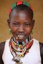 Hamer girl in South Omo, Ethiopia