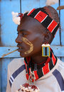 Hamer warrior in south omo ethiopia portrait of with typical headdress an ongoing year resettlement programm started threatens the Stock Photos