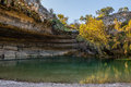 Hamilton Pool in the Fall Royalty Free Stock Photo