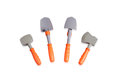 Hammer, ax and shovels toy Royalty Free Stock Photo