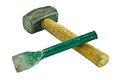 Hammer and chisel Royalty Free Stock Photos