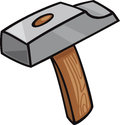Hammer clip art cartoon illustration of tool Royalty Free Stock Images