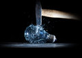 Hammer crush bulb tool destroy electric high speed photo Stock Image