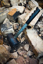 Hammer Demolish Wall Royalty Free Stock Photo