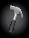 Hammer over black background illustration Royalty Free Stock Photos