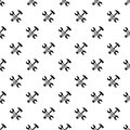 Hammer and screw wrench pattern vector
