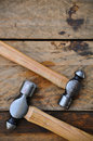 Hammer set of hand tools or basic tools on wooden background Royalty Free Stock Photography