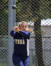 Hammer throw a female athlete swings and makes her first attempt during a track meet in redding california on may Stock Photos
